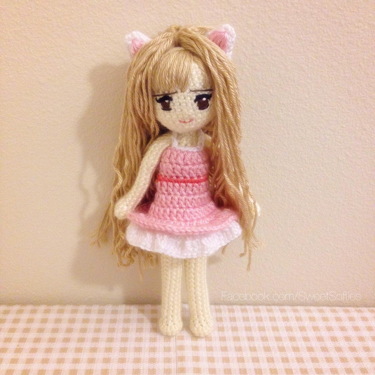Amigurumi Crochet Doll Pattern Anime Kiki the Kitty Cat by ...