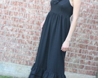 Women's Linen Maxi Dress - Beach Wedding Dress - Beach Family Photo Dress - - Sizes xxS, xS, S, M, L, xL, xxL