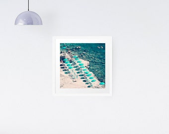 Italy Beach photography print - Italian riviera print - Beach - Nautical