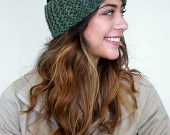 knitted turban headband / earwarmer / winter headband
