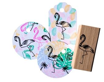 Flamingo stamp (medium size)