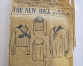 1920's Misses' Middy Blouse Sewing Pattern, Blouse, Sewing Pattern, 1920's, The New Idea Pattern Co., Middy Blouse, Misses, No. 5709