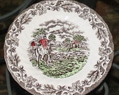 Myotts Country Life Hunt Scene Plate - Porcelain - Hand Engraved - Vintage - Fine Staffordshire Ware- England -Equestrian-1982 -Collectibles