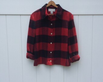 Vintage Checkered Top - Evan-Picone