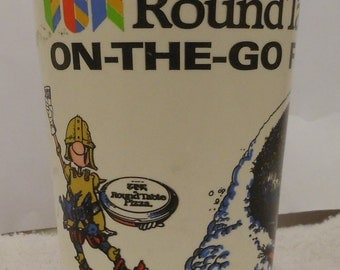 Vintage '80s Round Table Pizza On-The-Go Fun Cup