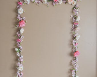 Wedding Garland, Cherry Blossom Garland, Silk Flower Garland, Wedding Decor, Rose Garland, Boho Wedding, Wedding Arch, Pink Wedding Decor