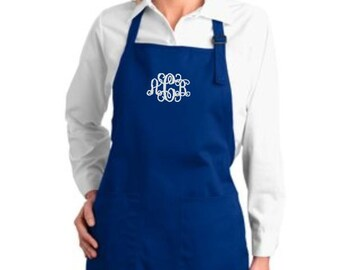 Monogram Apron, Aprons for Women, Personalized Aprons, Personalized Aprons for Her, Personalized Chef Aprons Embroidered, Personalized Gifts