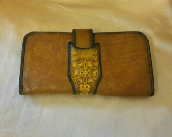 1970's Hand Tooled Leather Wallet