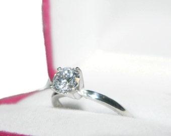 1 Carat Promise Ring, Proposal Ring, Wedding Ring, Engagement Ring