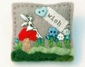 Fairy brooch - fairy jewellery - fairy gifts - felt brooch - gifts for teenagers - hand sewn items - faery