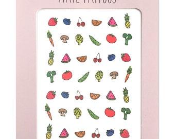 Fruit & Veggie Nail Tattoos