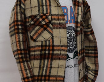 Cream Lumberjack Checkered Flannel shirt DOWN FROM 29.99