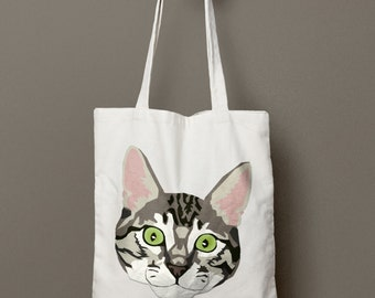 Striped Tabby Cat Tote