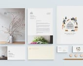 Brand and Identity for Philly Florist - logo, business cards, lookbook design, and invoice design