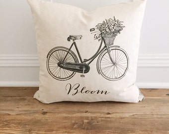 Bloom Bicycle Pillow Cover