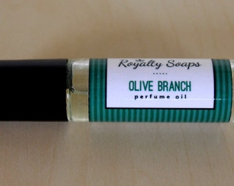 Olive Branch Perfume Oil   Roll On Perfume   Royalty Soaps