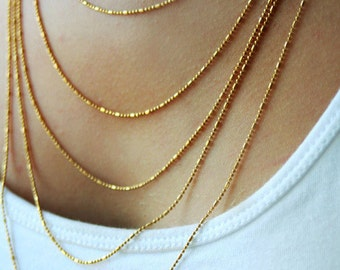 Multi layered necklace / gold chain necklace / layering jewelry / gold layering chain necklace / birthday gift for her