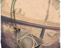 Hermetic Seal of Light, Alchemy symbol necklace, Quintessence, geometric necklace, square circle triangle, body soul spirit, transformation