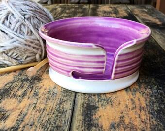Yarn bowl - Bright Stripe Series - Violet