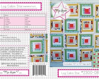 Log Cabin Star PDF Quilt Pattern