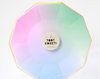 Large Ombre Paper Plates - Meri Meri- Party Decor Supplies
