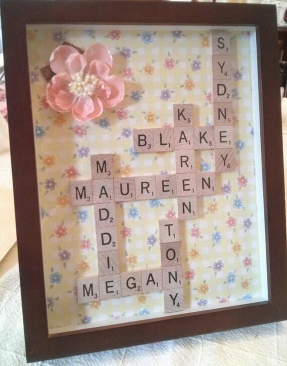 Scrabble Name Frame Tile Art Collage 5th