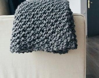 Knitting PATTERN- The Hadlow Blanket- Blanket Knit Pattern PDF