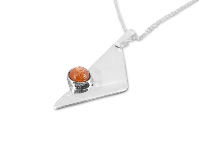 Sunstone and Sterling Silver Pendant