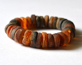 Amber Bracelet - Natural Baltic Amber Bracelet - Amber Jewelry - Raw amber