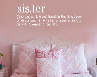 Sister Definition Vinyl Wall Art Decal