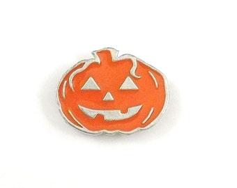 Pumpkin Pin, Pumpkin Enamel Pin, Pumpkin Lapel Pin, Halloween Pin, Pumpkin Tie Tack, Halloween Jewelry, Jack o Lantern, Halloween Pumpkin