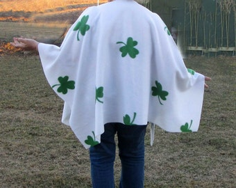 Shamrock Poncho Perfect for Pub Crawl St. Patricks Day