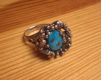 Turquoise Coral Reef Ring