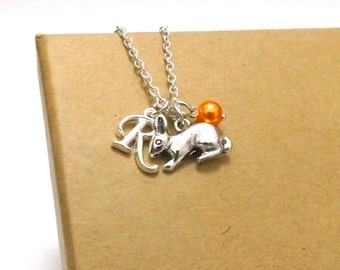 Rabbit Bracelet or Rabbit Necklace, Bunny Necklace, Bunny Bracelet, Rabbit Gift, Easter Jewellery, Animal Jewellery, Spring Jewellery