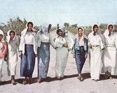 Field Workers Mexican Women Laborers Rio Grande Texas Delta Photo Print 1930's Original Vintage Wall Decor Color
