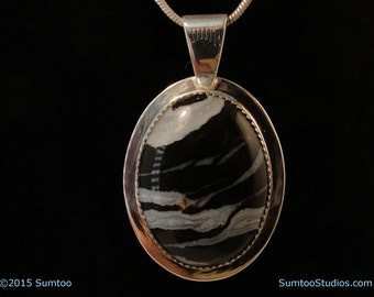 Zebra Agate in Argentium Sterling Silver