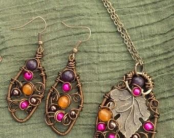 Rainbow Necklace set