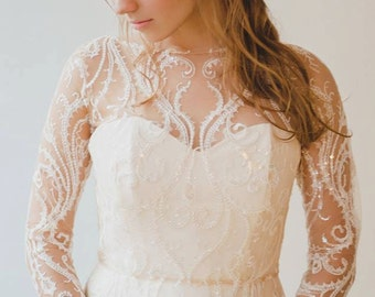 "Sequin Tulle wedding dress ""jewel in my crown"""