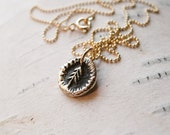 Little Tree Necklace in Bronze
