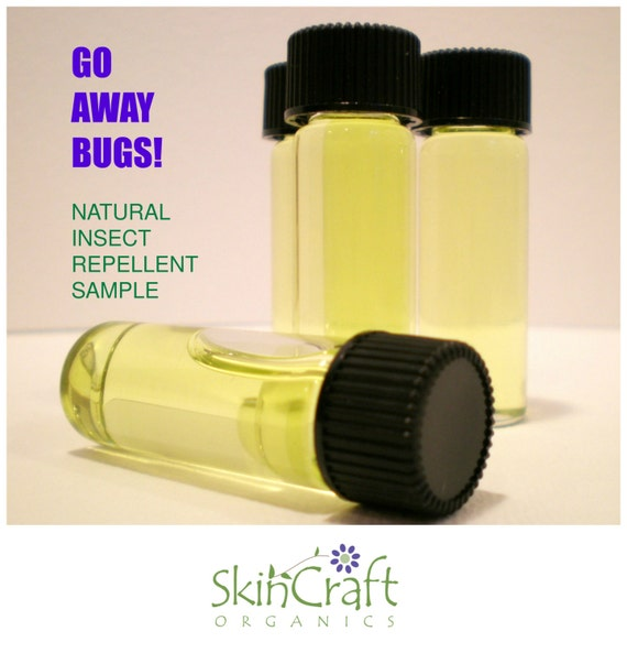 Natural Insect Repellent - Go Away Bugs-  Effective All Natural Alternative to Deet w/ Organic & GMO Free Soybean Oil - SAMPLE, 1 Dram