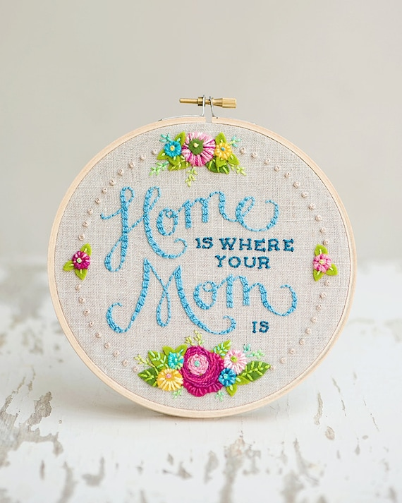 Embroidery hoop home decor mother s day gift