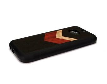HTC One M8 Case Wood Chevron Geometric Black, HTC One Case Wood HTC One Case, Htc One Wood Case, Wood Htc One M8 Case, Htc One M8 Wood
