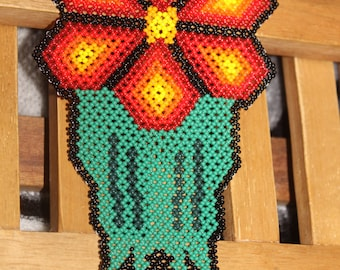 Huichol Peyote Beaded Necklace DDD