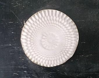 FLAT PLATE (dia. 13 cm), matt white