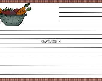 One Dozen Recipe Cards