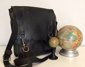 Secret Police Leather Shoulder Bag