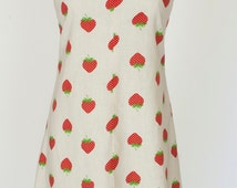 Vintage Handmade Strawberry Sundress