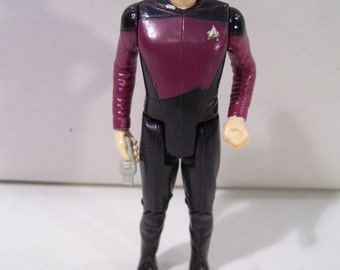 "Vintage Star Trek The Next Generation Commander William Riker 4"" Action Figure, Galoob 1988, New without Box"
