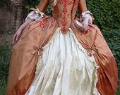 RESERVED 18th century Custom made gown made to your own measurements with hooped petticote  queen fairy princess stage party banquet