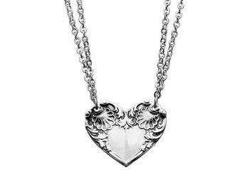 """Spoon Necklace: """"Colonial Shell Heart"""" by Silver Spoon Jewelry"""
